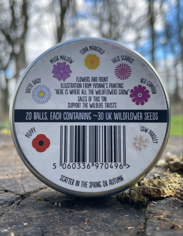 Seedball - Artist Meadow Mix (back)